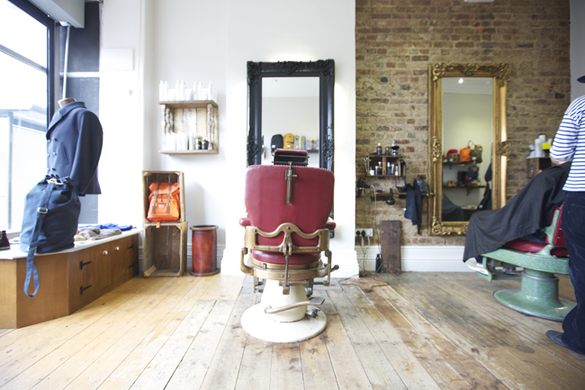 Interior of Milo's salon in Brighton
