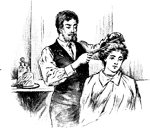 retro hair stylist