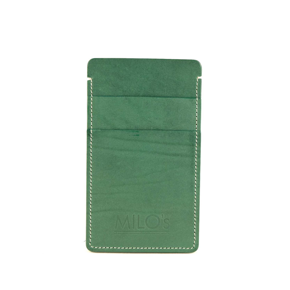 Milo's Iphone 6 cover / wallet in green - front