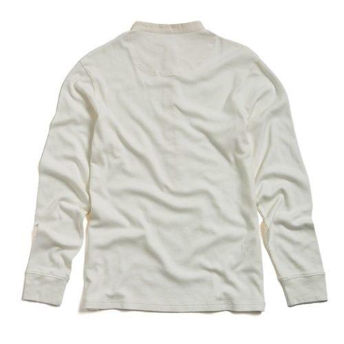 "Milos ""Maillot"" Henley Cream - long sleeved - back"