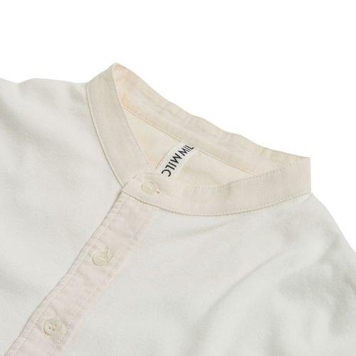 "Milos ""Maillot"" Henley Cream - long sleeved - collar detail"