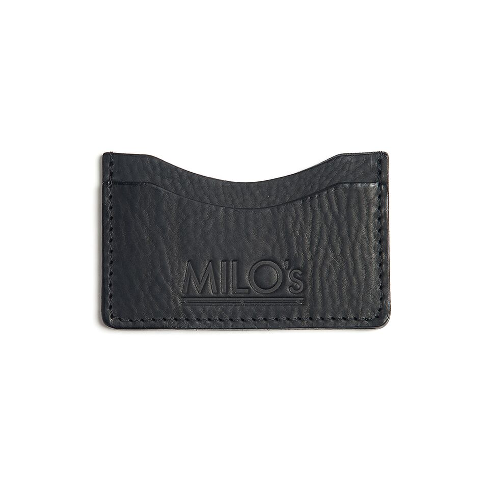 Milo's Black Leather Card Wallet