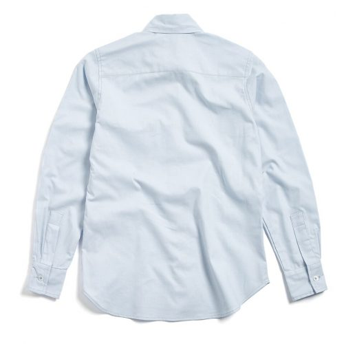 Milo's- Light Blue 100% Cotton Lady's Drill shirt back