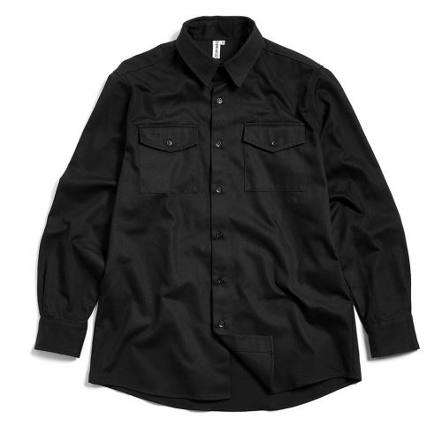 Milo's Black 100% Cotton Drill Shirt front