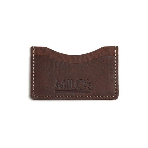 Milo's Brown Leather Card Wallet