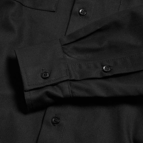 Milo's Black 100% Cotton Drill Shirt sleeve