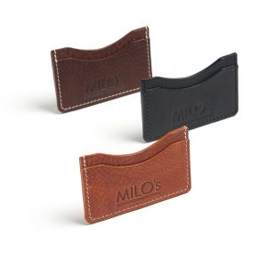 Milo's - Black/Tan/Brown Leather Card Wallet