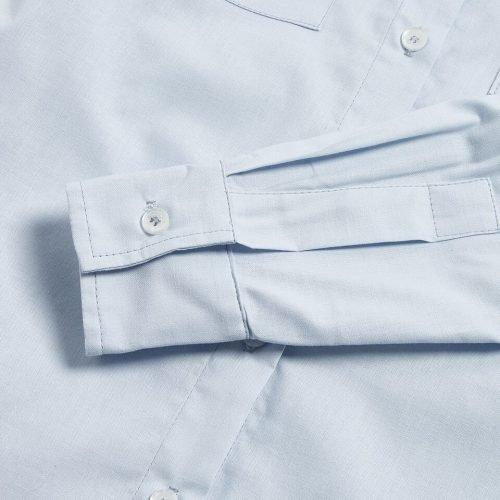 Milo's- Light Blue 100% Cotton Lady's Drill shirt sleeve