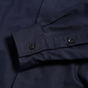 Milo's Navy 100% Cotton Drill Shirt 10oz sleeve
