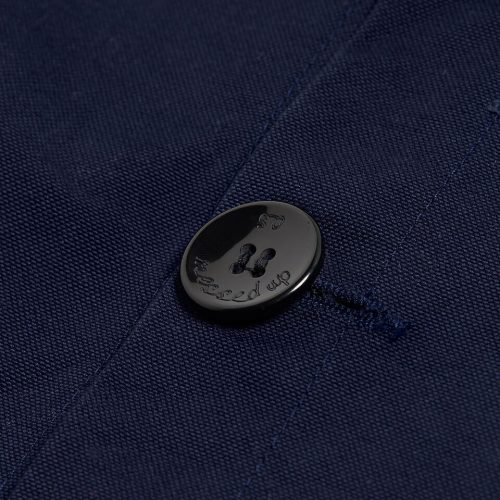 "Milo's - Navy 100% Canvas ""Laboureur"" Jacket - button detail"