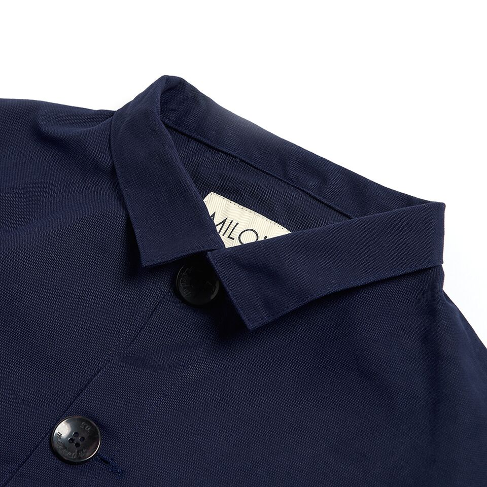 "Milo's 100% Canvas ""Laboureur"" Jacket - collar detail"