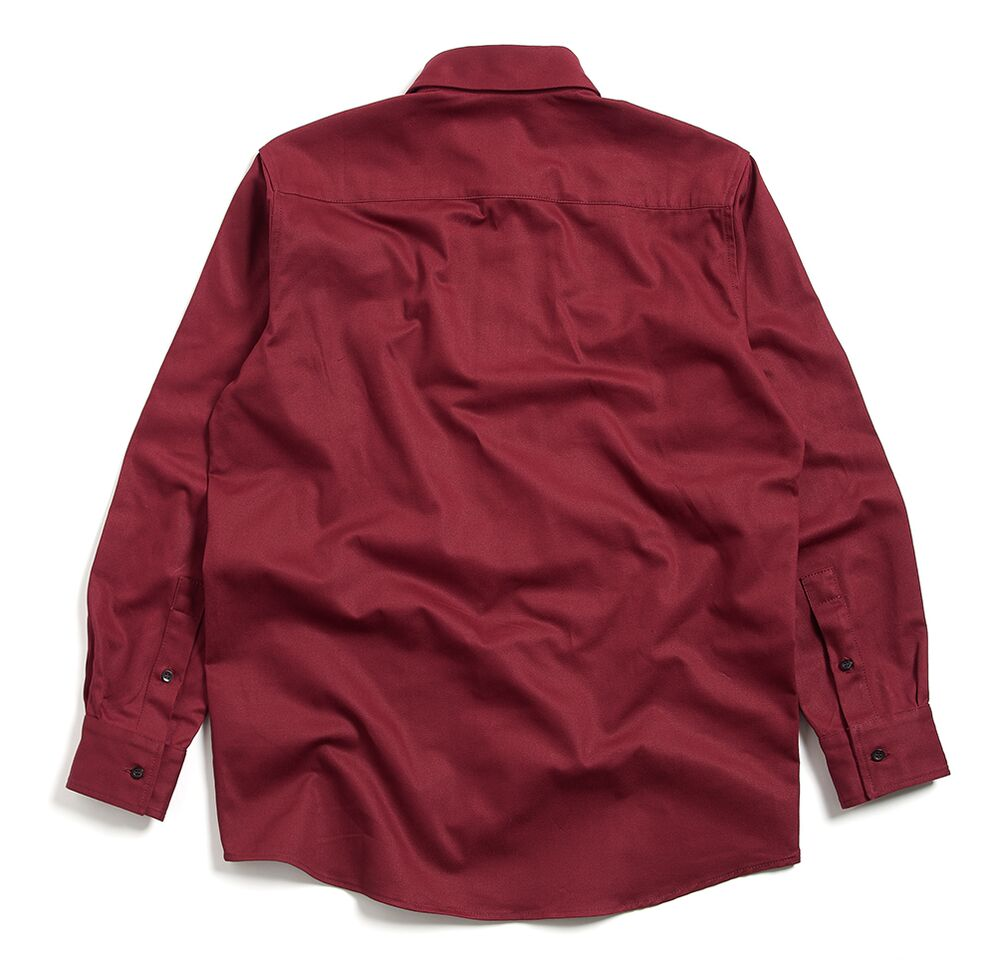 Milo's Maroon 100% Cotton Drill shirt back