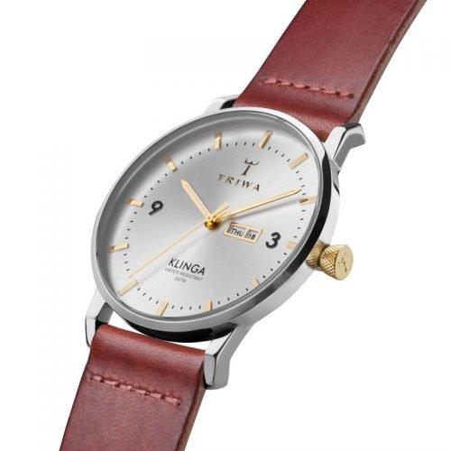 TRIWA Watches - Gleam Klinga - Cognac Classic side view