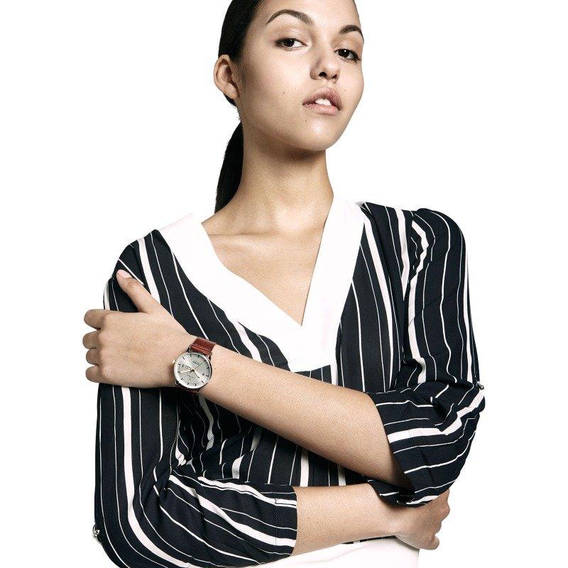 TRIWA Watches - Gleam Klinga - Cognac Classic - female model