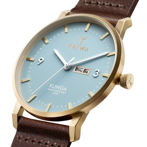 TRIWA Watches-Arctic Klinga - Dark Brown Classic- detail