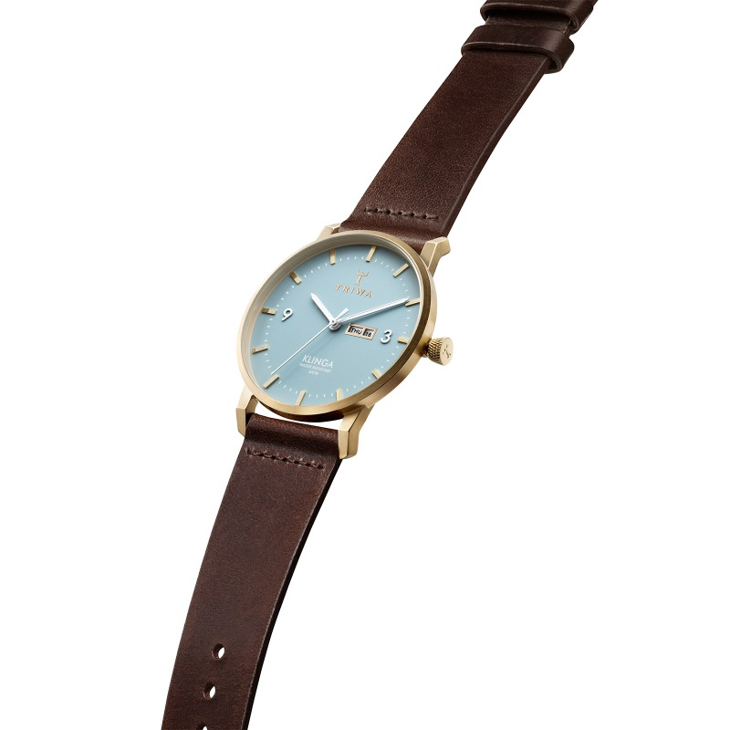 TRIWA Watches-Arctic Klinga - Dark Brown Classic- side view