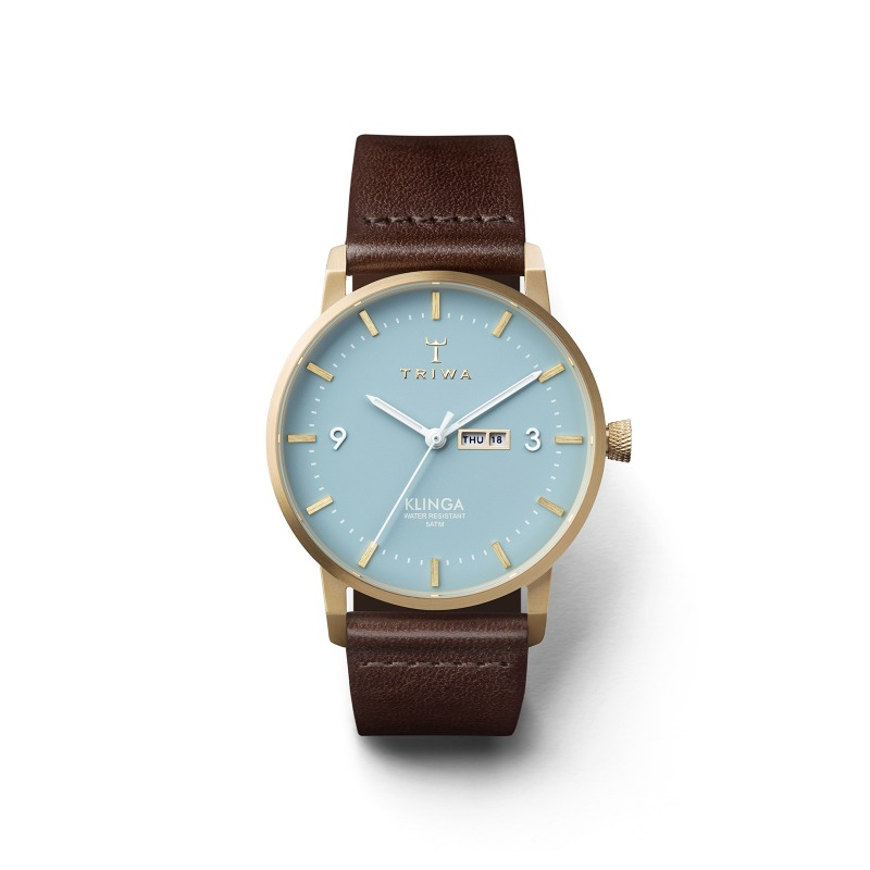 TRIWA Watches-Arctic Klinga - Dark Brown Classic- front view