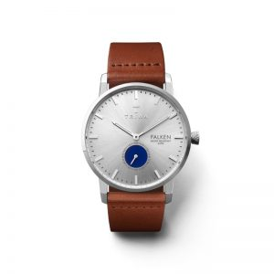 TRIWA Watches- Blue Eye Falken-Brown Classic Front
