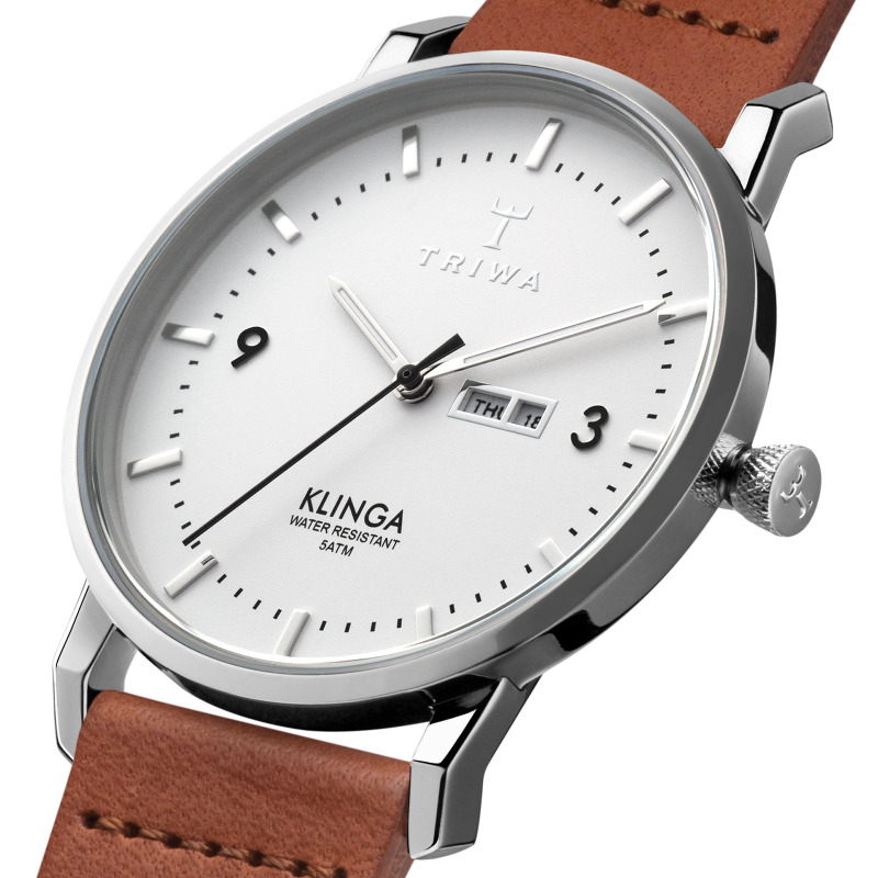 TRIWA Watches - Snow Klinga - Brown Classic - detail
