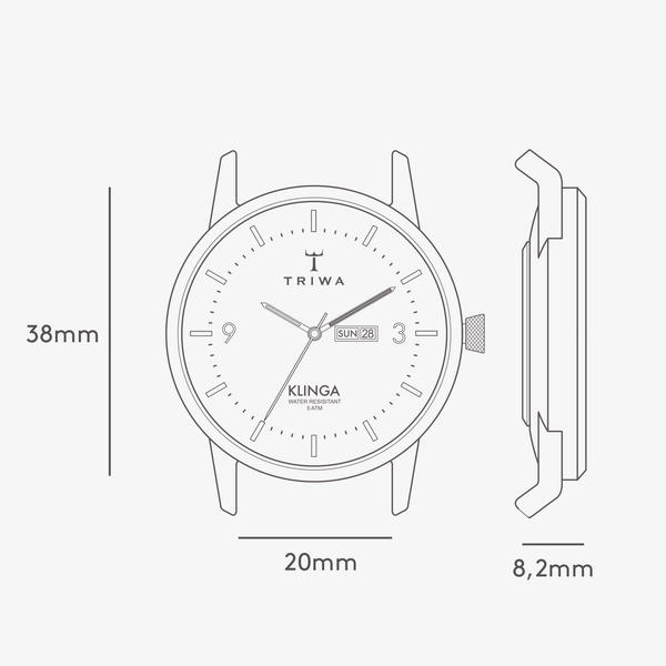 TRIWA Watches - Snow Klinga - Brown Classic - technical drawing