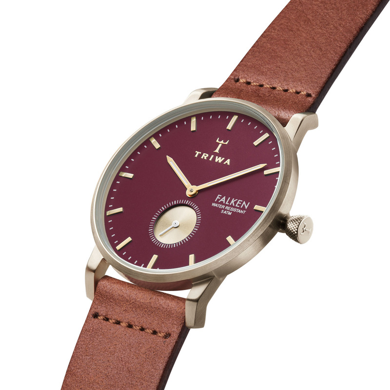 TRIWA Watches – Ruby Falken – Brown Classic - side view