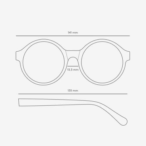TRIWA Sunglasses - Debbie Turtle Debbie tech drawing