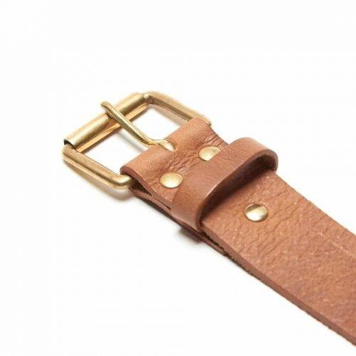 Milo's branded leather full grain Jean Belt Detail
