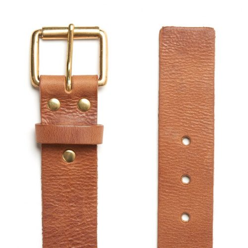 Milo's branded leather full grain Jean Belt Flat