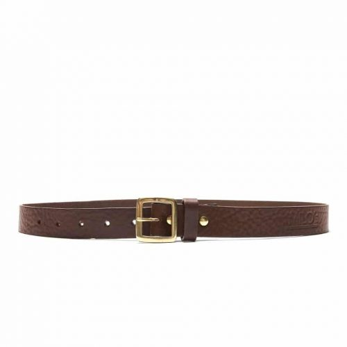 Milo's full grain leather brown jean belt - buckled