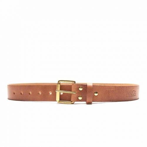 Milo's branded leather full grain Jean Belt Front