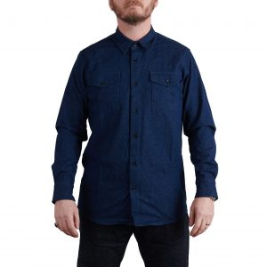 MIlo's Dark Blue Denim Cotton Drill Shirt on Milo