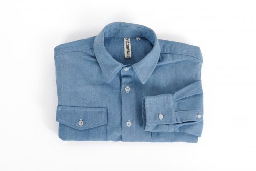 MIlo's Light Blue Denim Shirt folded