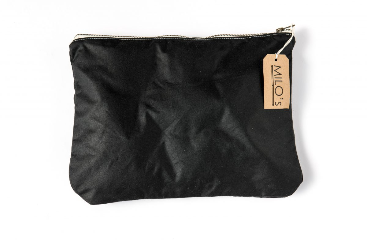 Milo's Black Medium Clutch Bag - front