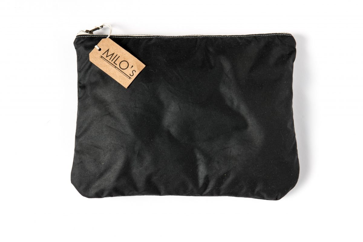 Milo's Black Medium Clutch Bag - back