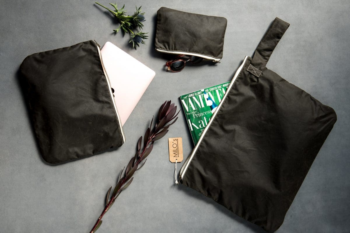 Milo's Waxed Cotton Bags Banner 1