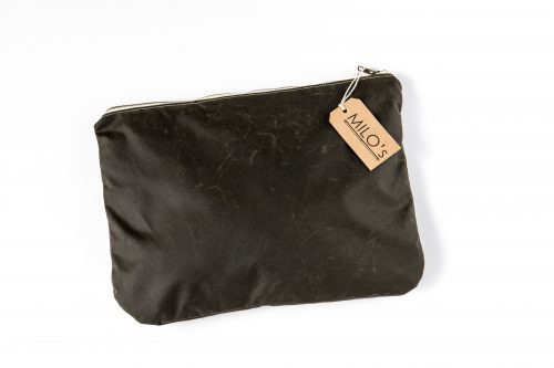 Milo's Olive Medium Clutch Bag - front