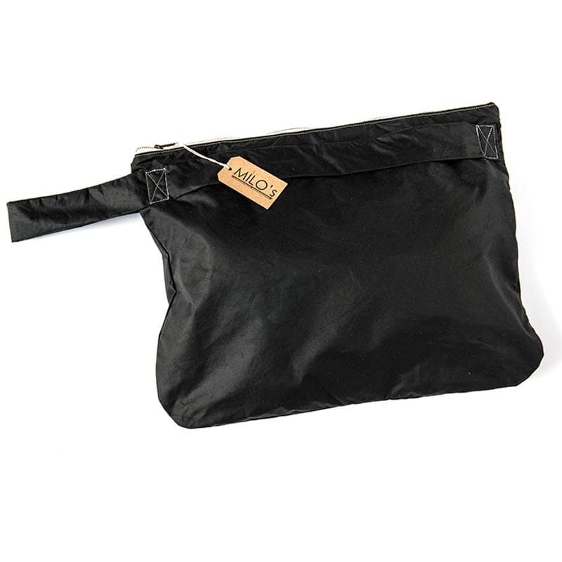 7c649a6f4d9 Milo's Waxed Cotton Oversized Clutch Bag in Olive & Black