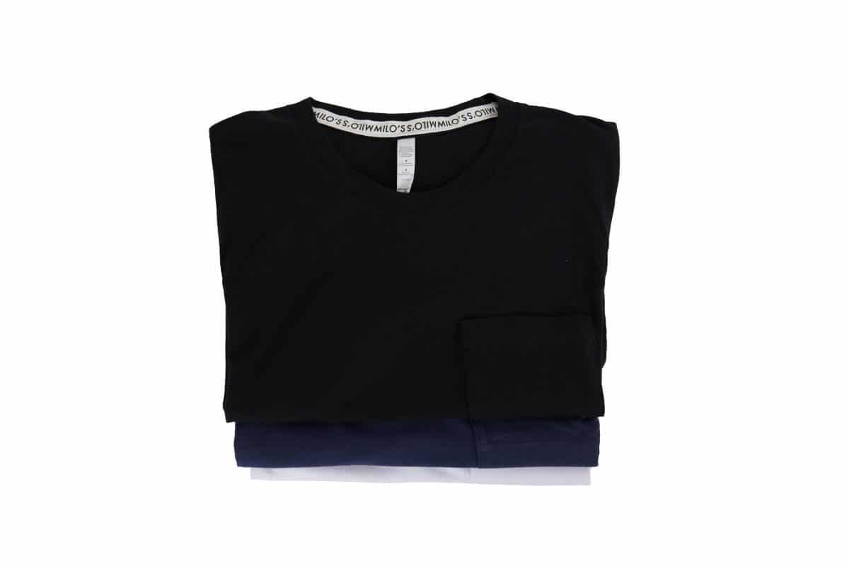 Milo's classic cotton t-shirts - folded