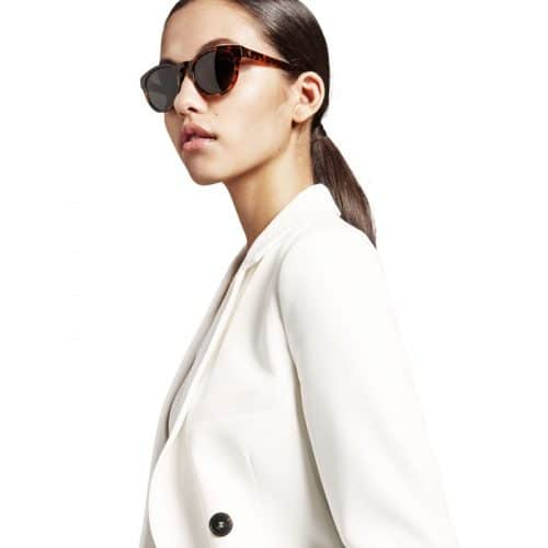 Triwa Havana Ernest Sunglasses on female model