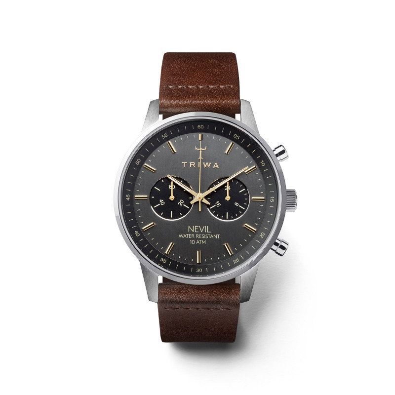 Triwa Watches - Smoky Nevil - Dark Brown Classic - front view