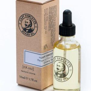 Capt Fawcett Beard Oil (CF.332) Private Stock (bottle & box)