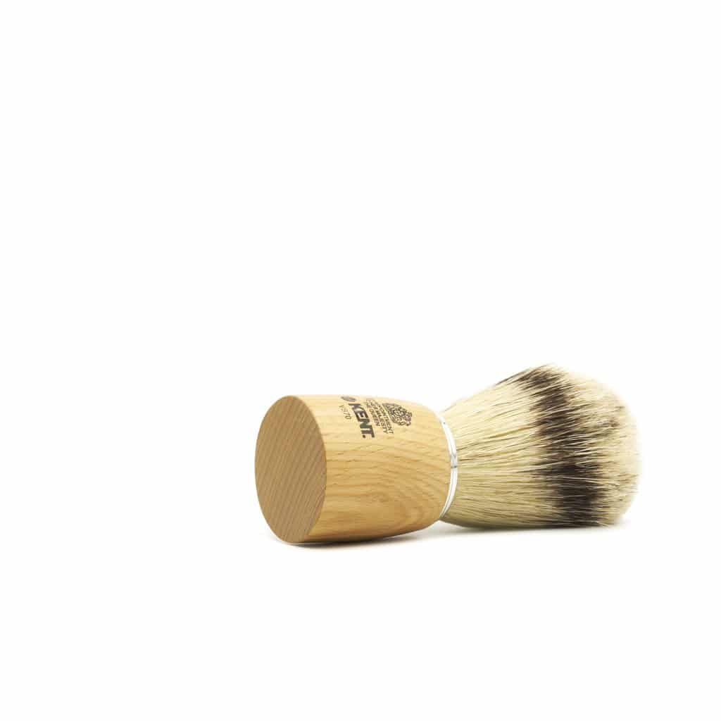 Kent large wooden shaving brush - side