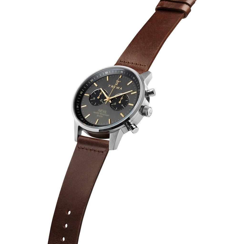 Triwa Watches - Smoky Nevil - Dark Brown Classic - side view