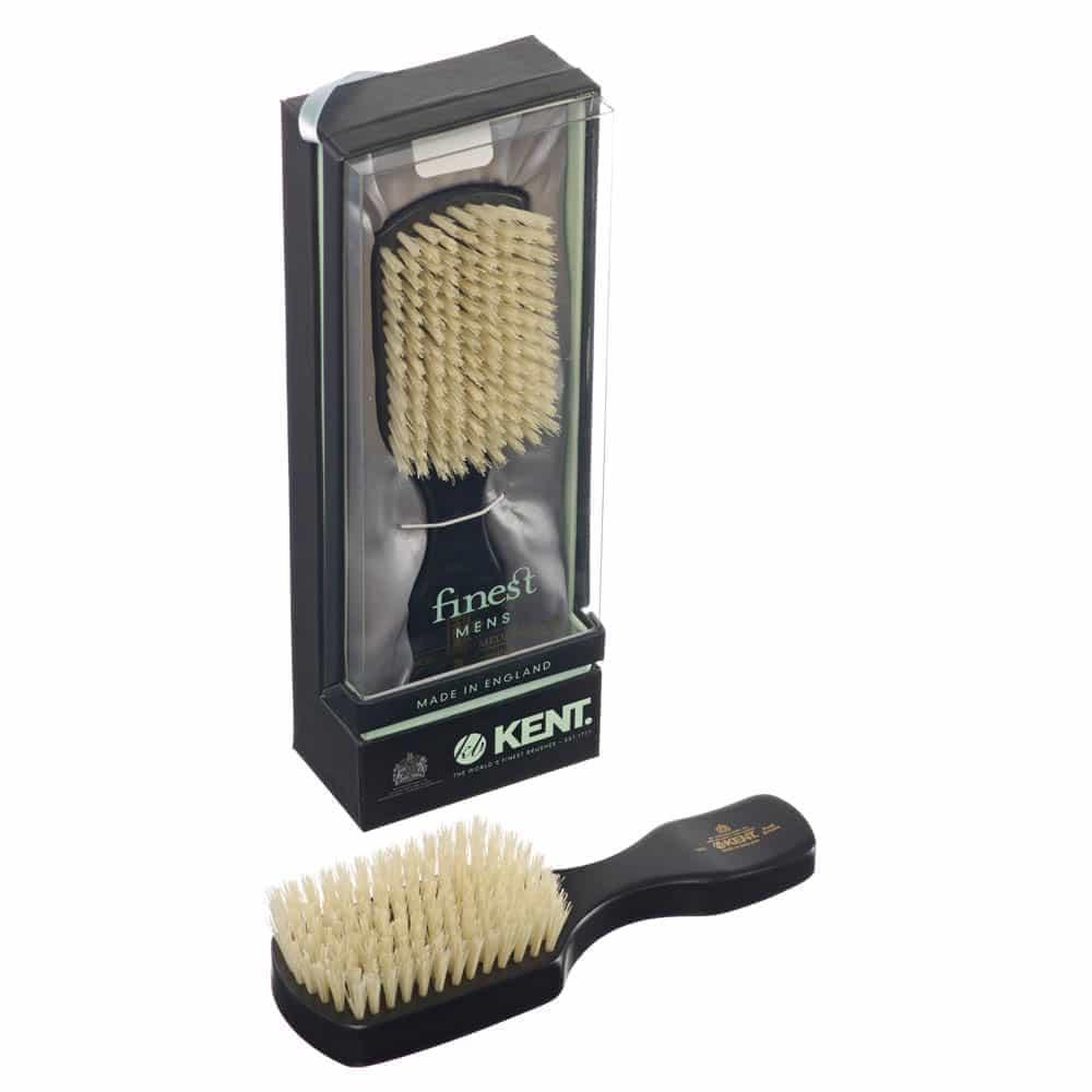 Kent OE1 Ebony Club Handle Men's Hair Brush