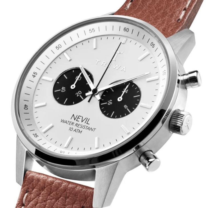 Triwa watches - Raven Nevil - Tumbled Brown Sewn Classic 2 - detail