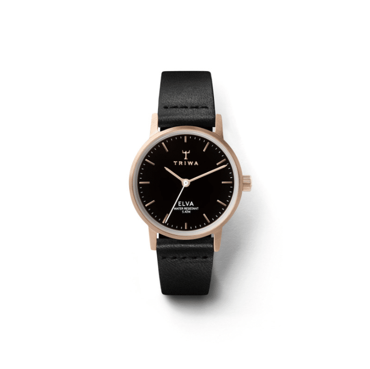 Triwa watches - Rose Elva - Black Petite Tamsjo - front view