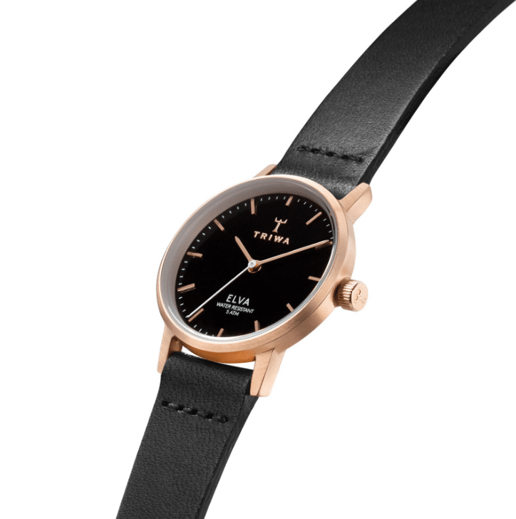 Triwa watches - Rose Elva - Black Petite Tamsjo - side