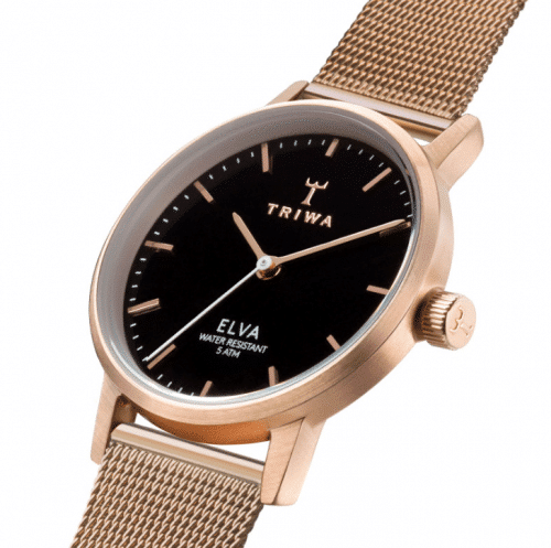 Triwa watches - Rose Elva - Petite Rose Mesh - close up