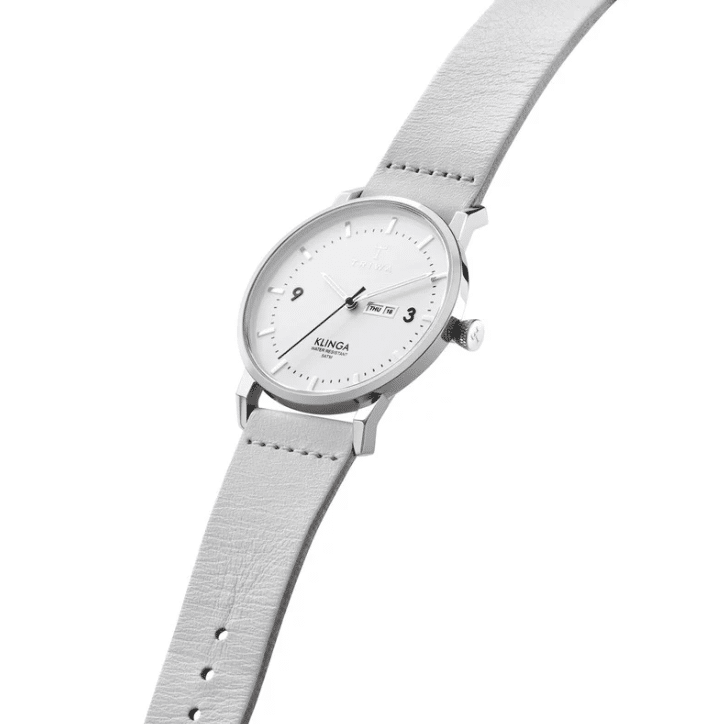 Triwa watches - Snow Klinga - Light Grey Silver Buckle - side