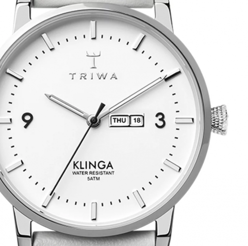 Triwa watches - Snow Klinga - Light Grey Silver Buckle - detail